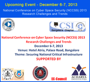iacc - National Conference on Cyber Space Security (NCCSS) 2013 Research Challenges and Trends